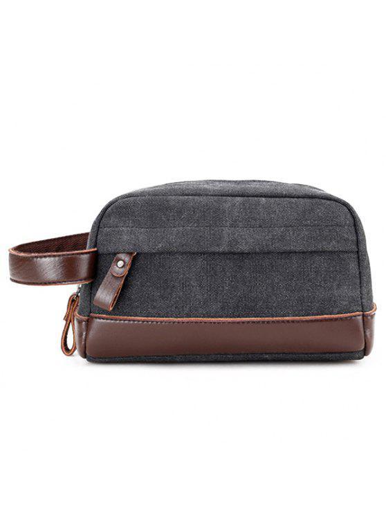 حقيبة يد بجلد اصطناعي - أسود