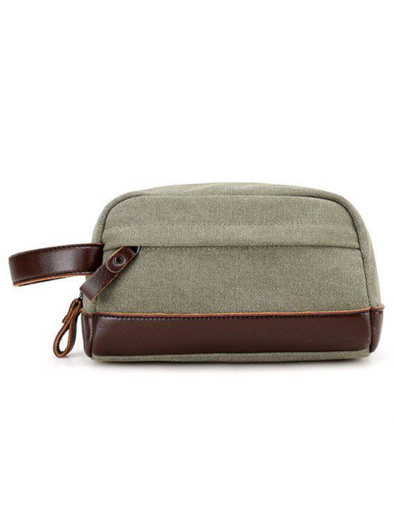 حقيبة يد بجلد اصطناعي - الجيش الأخضر
