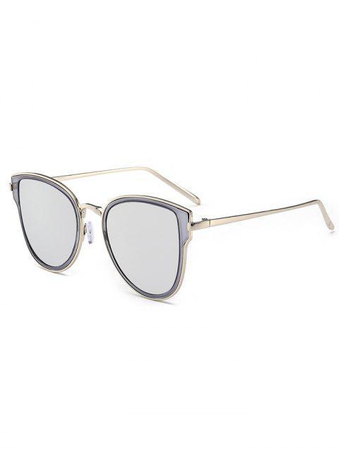 Metallrahmen Gespiegelte Sonnenbrille - schwarz+Quecksilber  Mobile