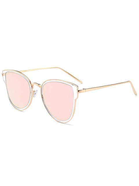 Metallrahmen Gespiegelte Sonnenbrille - Silberer Rahmen+Graue Linse  Mobile