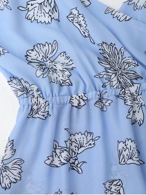 buy Cami Floral Surplice Romper - FLORAL S Mobile