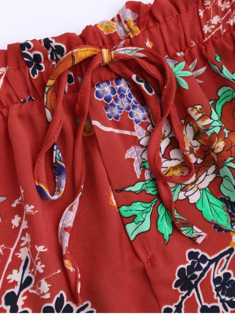 Shorts  à cordes à motif floral bohémien - Tangerine M Mobile