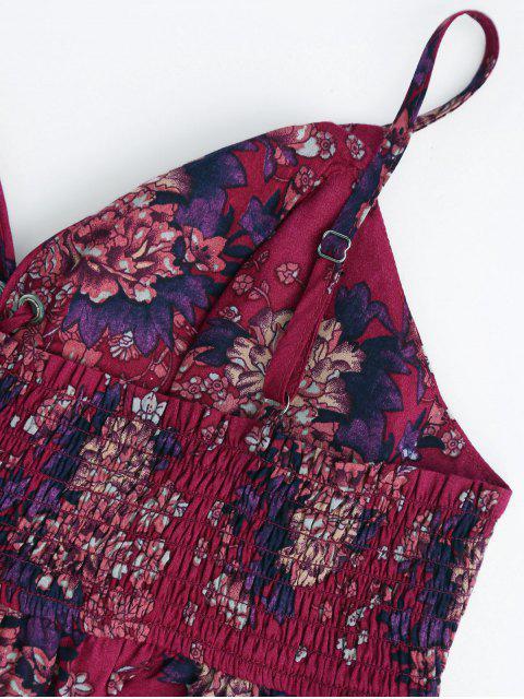 Haut court floral lacé haut et Shorts à volants - Floral S Mobile