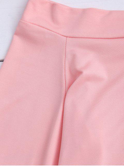 Trumpet Sleeve Off The Shoulder Bodysuit - ROSE PÂLE M Mobile