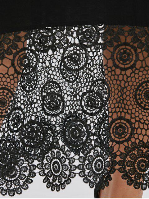 Robe à carreaux Maxi Lace - Noir 2XL Mobile