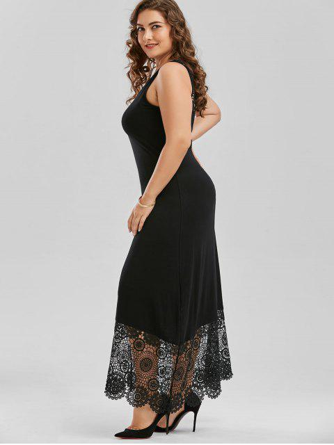 Robe à carreaux Maxi Lace - Noir 4XL Mobile