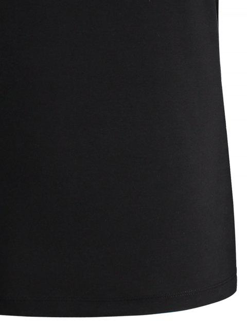chic Geometric Printed Tee - BLACK M Mobile
