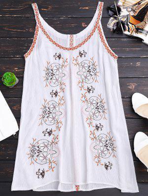 Cremallera Vestido Embroider Straps - Blanco S