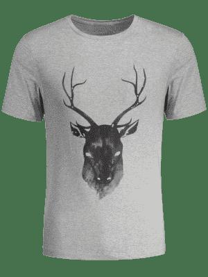 T-shirt manches courtes imprimé renne