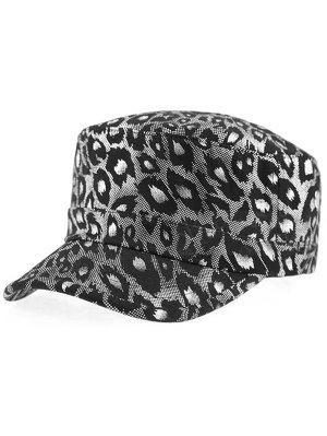 Schimmer Leopard gedruckt flachen Top Military Hat