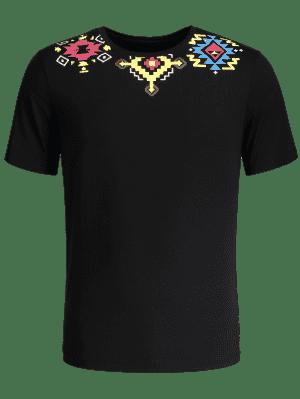 Camiseta con estampado geométrico
