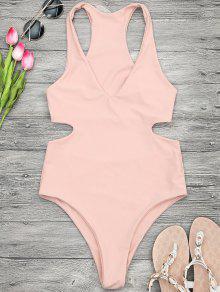 الخامس الرقبة قطع قطعة واحدة ملابس السباحة - Orangepink L
