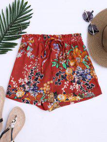 Bohemian Drawstring Floral Shorts - Jacinth L