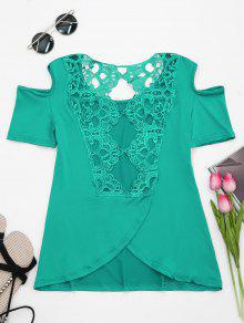 237;o Hombro Verde Encaje Camiseta Fr 2xl Espalda q5twtp