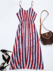 فستان الشمس شيفون مخطط - متعدد الألوان L