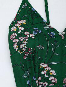 a70afbea0bc 29% OFF] 2019 Floral Print Maxi Beach Slip Dress In GREEN | ZAFUL