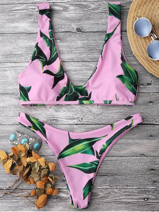 Conjunto de bikini de la cucharada - Rosa S