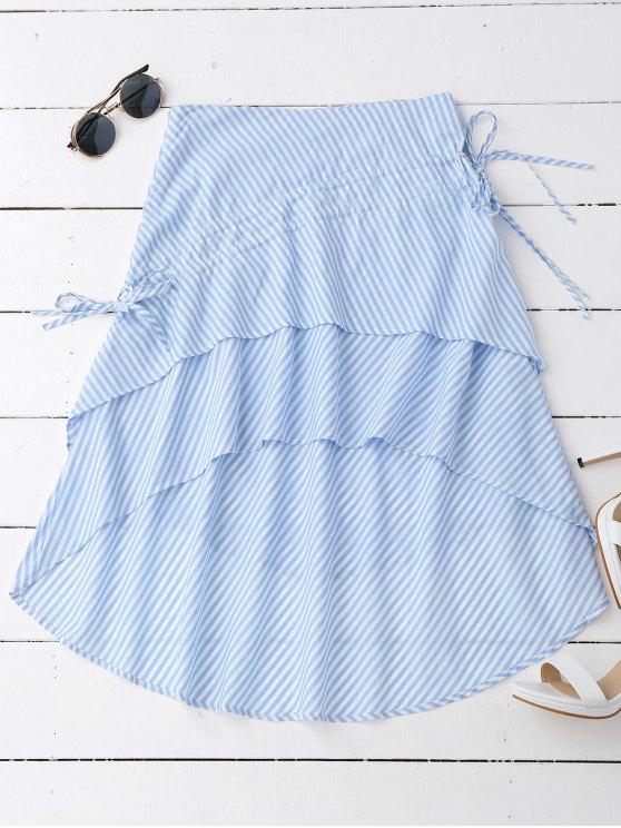 Falda asimétrica con capas de rayas - Raya M