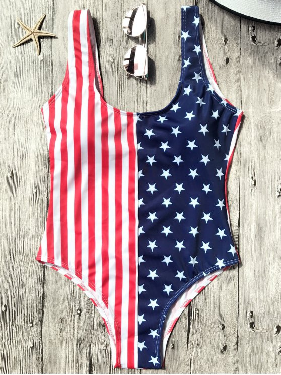 trendy Shaping USA Patriotic One Piece Swimsuit - US FLAG L