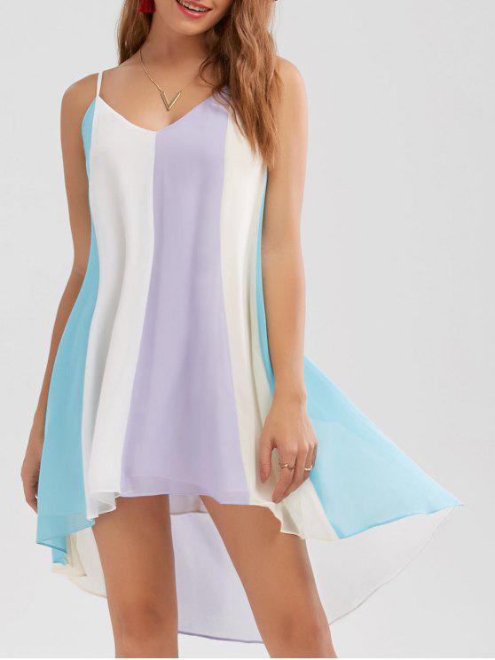 Fließendes Cami Kleid mit hohem niedrigem Saum - COLORMIX  XL