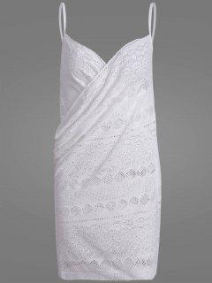 Crochet Wrap Beach Cover Up Dress - White