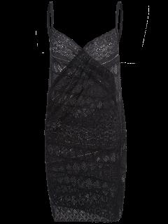 Crochet Wrap Beach Cubrir El Vestido - Negro