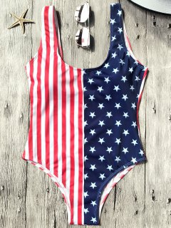 Shaping USA Patriotic One Piece Swimsuit - Us Flag L