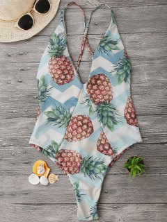 Traje De Baño De Corte Cruzado Back Pineapple - M