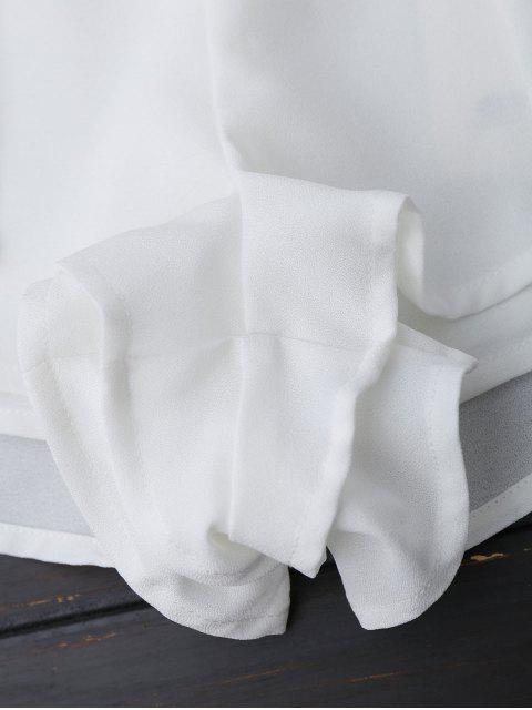 Shorts multicouches brodés floral - Blanc XL Mobile