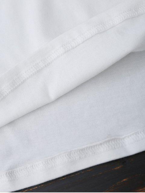 Top col V à rayures - Blanc 2XL Mobile