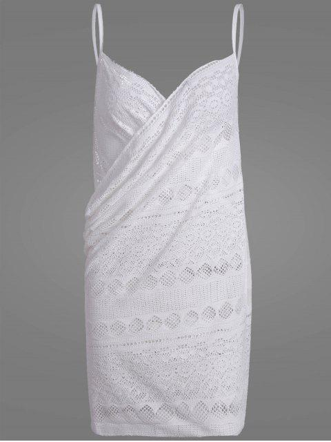 shops Crochet Wrap Beach Cover Up Dress - WHITE ONE SIZE Mobile