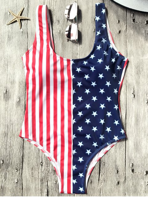 chic Shaping USA Patriotic One Piece Swimsuit - US FLAG S Mobile