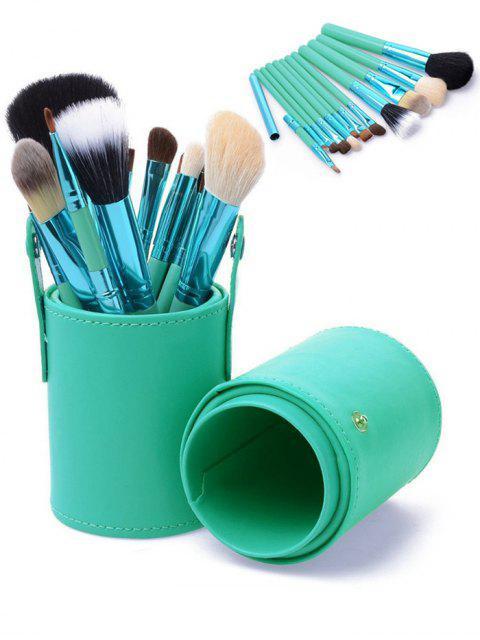 12pcs multifunción maquillaje pinceles conjunto con cubo -   Mobile