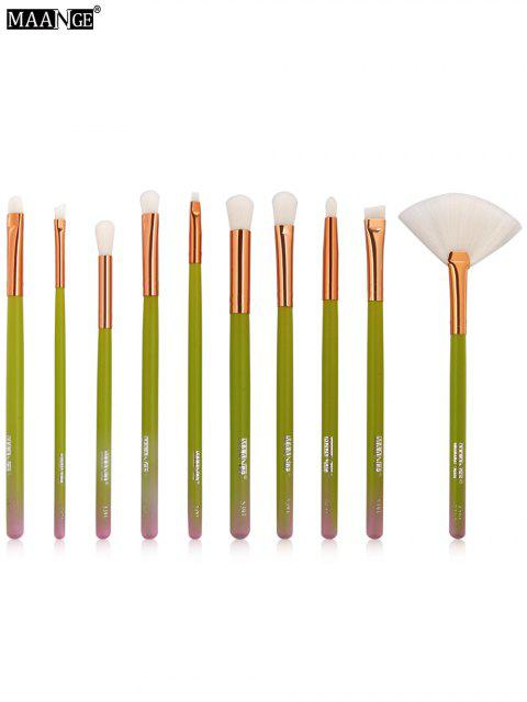 MAANGE 10Stk Steigung Farbe Make-up Pinsel Set - Grün  Mobile