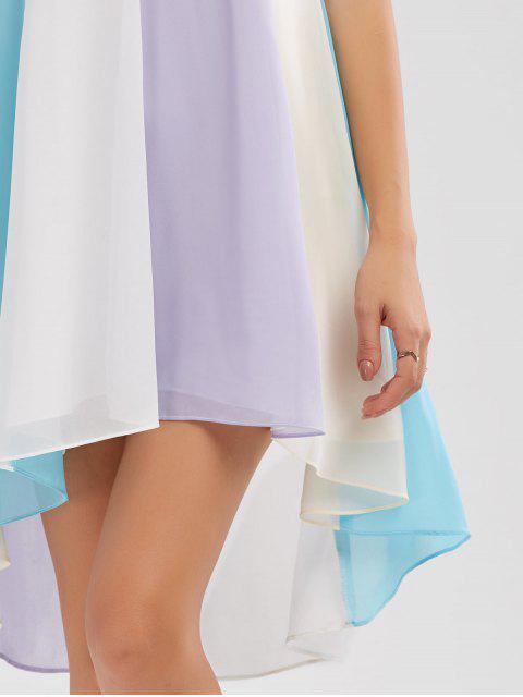 buy High Low Hem Flowy Slip Dress - COLORMIX M Mobile