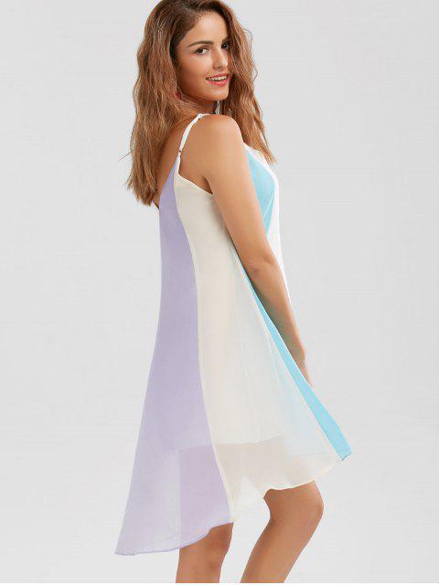 Mini robe haut bas éthérée à bretelles - Multicolore 2XL Mobile