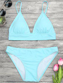 Dessus Et Bas De Bas De Bikini Avec Camembert Rembourré - Turquoise S