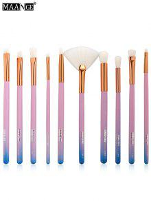 MAANGE 10pcs Pinceles De Maquillaje De Color Degradado Set - Azul
