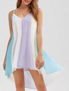 فستان عالية انخفاض الحاشية متدفق - M