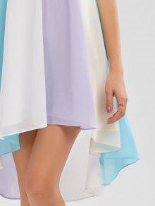 4055f2d58b00 28% OFF] 2019 High Low Hem Flowy Slip Dress In COLORMIX | ZAFUL
