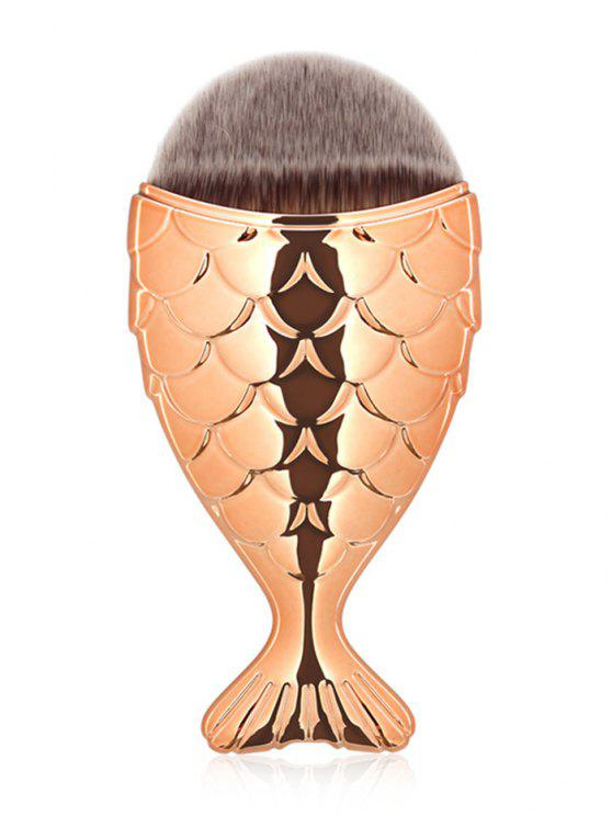 fancy Mermaid Design Portable Facial Makeup Brush - ROSE GOLD