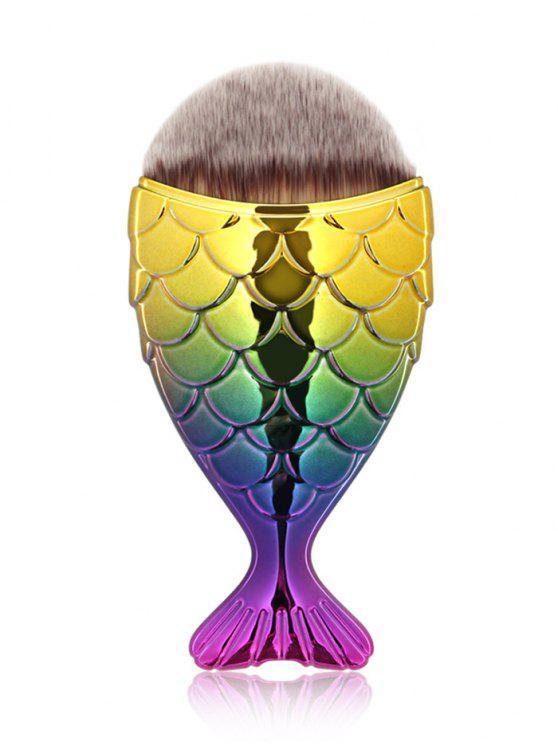 فرشاة ماكياج الوجه بتصميم مميز - أصفر + بنفسجي