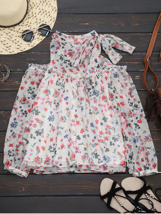 Blusa de hombro frío con vista floral - Floral S