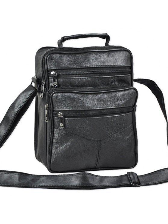 حقيبة كروسبودي من الجلد الاصطناعي - أسود