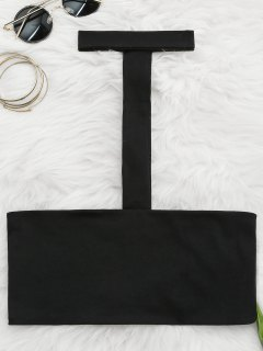Spaghetti Straps Choker Tube Top - Black M