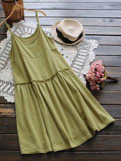 Vestido De Camuflaje Con Volantes - Verde Salvia
