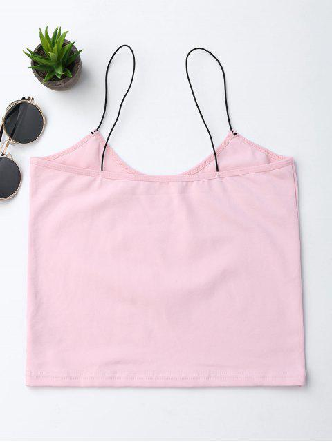 unique Cropped Letter Tank Top - PINK S Mobile