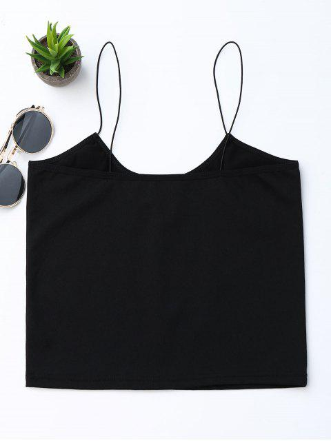 best Cropped Letter Tank Top - BLACK M Mobile