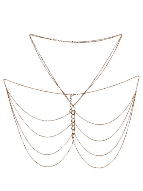 fancy Fringed Body Chain Jewelry - GOLDEN  Mobile