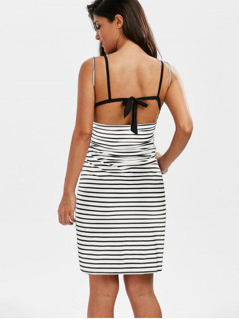 outfits Striped Open Back Multiway Wrap Cover-ups Dress - WHITE L Mobile
